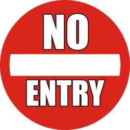 """Luistamaton lattiakuvake: """"No Entry"""""""