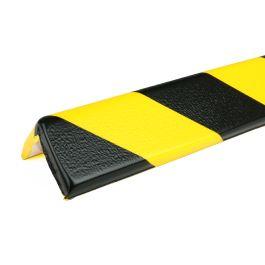 PRS-suoja kulmiin, malli 8 - keltainen/musta - 1 metri