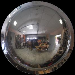 360° kupera peili