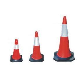 Punainen/valkoinen sulkukartio - liikennekartio