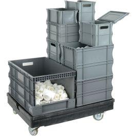 Muoviset suorasivuiset säilytyslaatikot