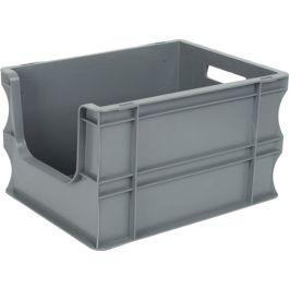 300x400x235 mm suoraseinäinen säilytyslaatikko eurolaatikko avoimella etuosalla