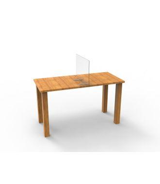 Plexiglass divider for desk