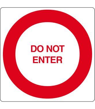 """Do Not Enter"" -lattiakuvake"