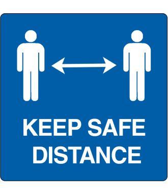 """Keep safe distance"" -lattiakuvake"