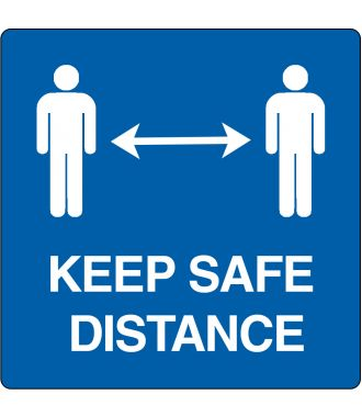 """Keep safe distance"" -lattiakuvake"