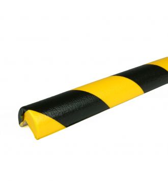 PRS-suoja kulmiin, malli 1 - keltainen/musta - 1 metri