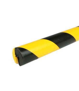 PRS-suoja reunoille, malli 2 - keltainen/musta - 1 metri