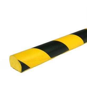 PRS-suoja tasaille pinnoille, malli 3 - keltainen/musta - 1 metri