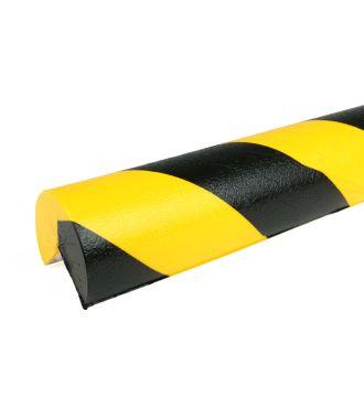 PRS-suoja kulmiin, malli 4 - keltainen/musta - 1 metri