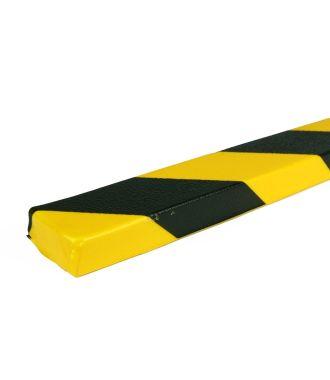 PRS-suoja tasaille pinnoille, malli 43 - keltainen/musta - 1 metri