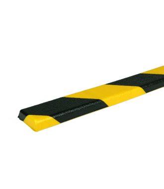 PRS-suoja tasaille pinnoille, malli 44 - keltainen/musta - 1 metri