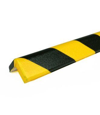 PRS-suoja kulmiin, malli 7 - keltainen/musta - 1 metri