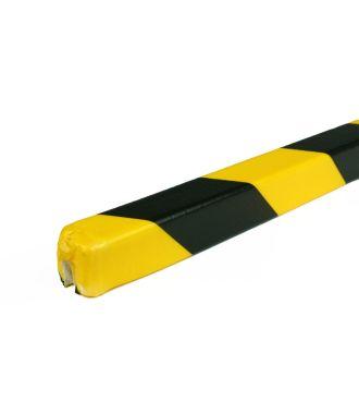 PRS-suoja reunoille, malli 9 - keltainen/musta - 1 metri
