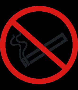 """Luistamaton lattiakuvake: """"Tupakointi kielletty"""""""