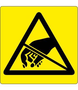 Varoitus sähköstaattisille purkauksille herkistä kohteista -lattiakuvake
