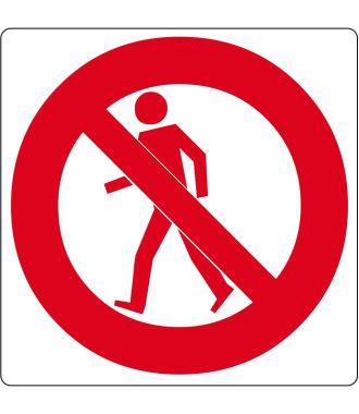 """""""Ei jalankulkijoille"""" -lattiakuvake"""
