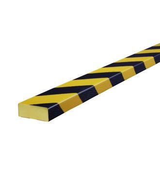 Knuffi puskuri tasaisille pinnoille, tyyppi D - keltainen/musta - 5 metri