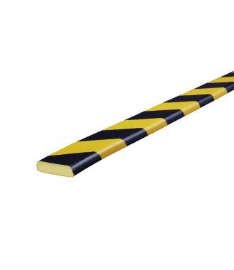 Knuffi puskuri tasaisille pinnoille, tyyppi F - keltainen/musta - 5 metri
