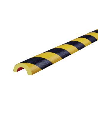 Knuffi puskuri putkille, tyyppi R30 - keltainen/musta - 5 metri