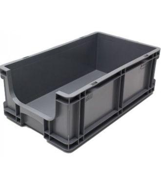 260x505x165 mm suoraseinäinen säilytyslaatikko avoimella etuosalla