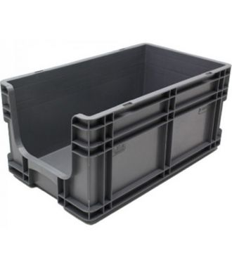 260x505x210 mm suoraseinäinen säilytyslaatikko avoimella etuosalla