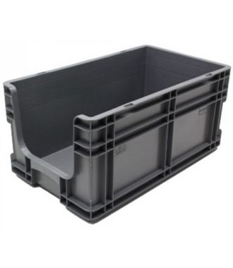 295x505x235 mm suoraseinäinen säilytyslaatikko avoimella etuosalla