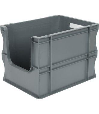 300x400x290 mm suoraseinäinen säilytyslaatikko eurolaatikko avoimella etuosalla