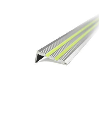 Pimeässä hohtava alumiininen porrasaskelmaprofiili