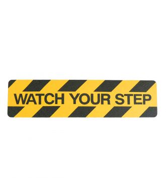 """Watch your step"" liukuesteteippi"