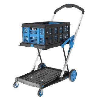 X-Cart kokoontaitettava laatikkovaunu + 1 taittuva laatikko