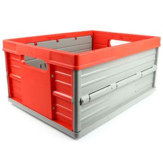 Taittuva lisäkori - 32 litraa - punainen ja harmaa